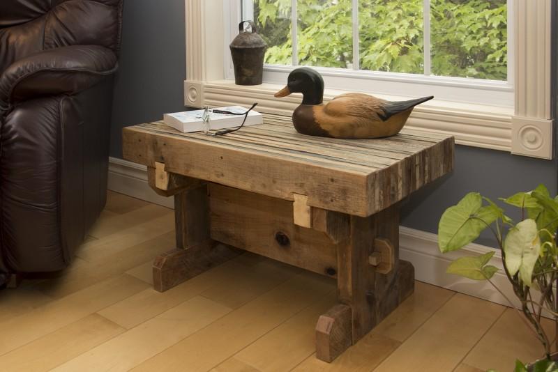 petite table champ tre r cup ration de palettes industrielles bois passions et cie. Black Bedroom Furniture Sets. Home Design Ideas