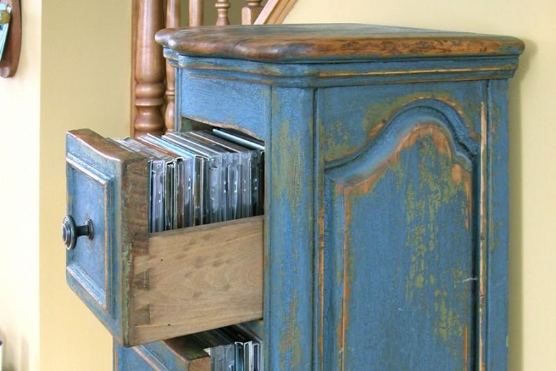 Meuble cd fini antique bois passions et cie for Faux fini meuble