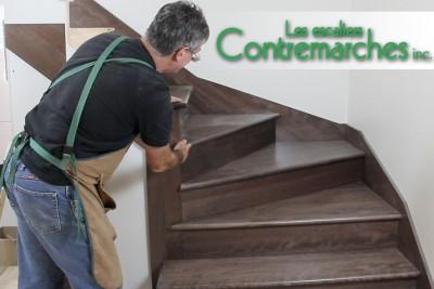 Escaliers sur mesure en bois massif