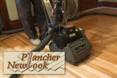 Sablage et finition de plancher sans poussière - Plancher Newlook