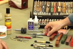 Tournage de stylos, premier pas