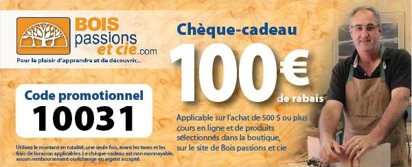 Chèque-cadeau de 100€ à l'achat de 500€ ou plus