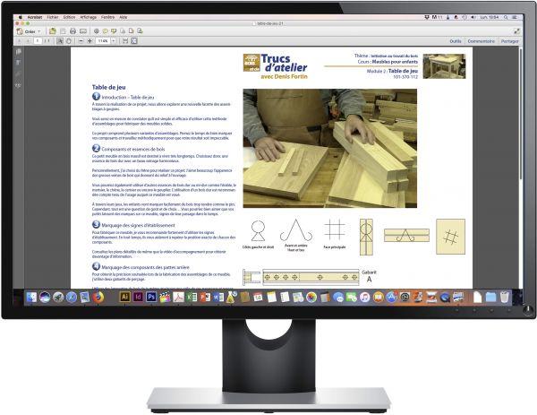 Exemple de pages d'étapes en PDF