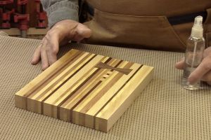 Truc pour voir un aperçu de la finition sur le bois