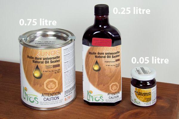 Formats de contenant d'huile
