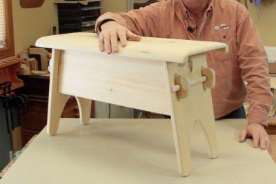 Trucs d 39 atelier fabrication d 39 un banc rustique bois passions et cie - Fabrication banc en bois ...