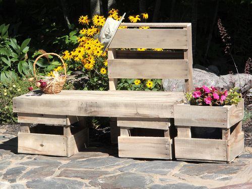 Meubles de jardins - palettes récupérés