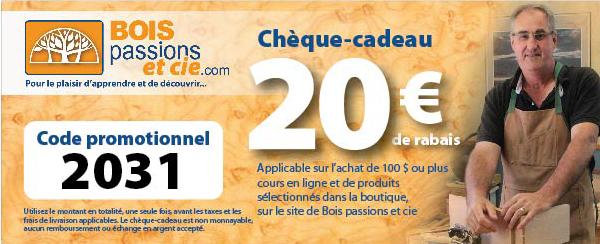 Chèque-cadeau de 20€ à l'achat de 100€ ou plus