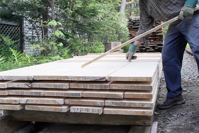 L'entreposage du bois