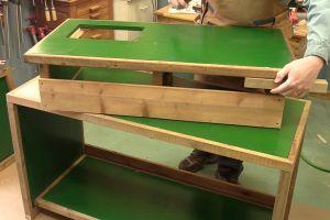 Installation de la table de travail