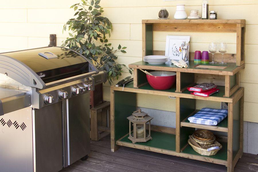 Comptoir de cuisine extérieure