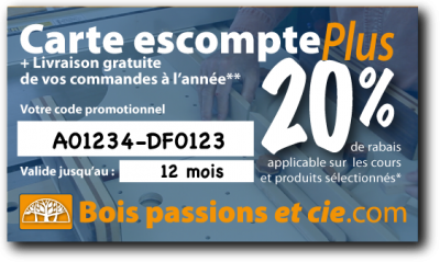 Carte escompte 15%