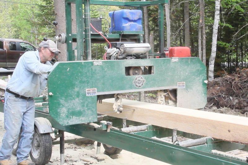Le sciage du bois