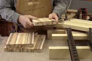 Finition de la préparation des blocs de carrelets