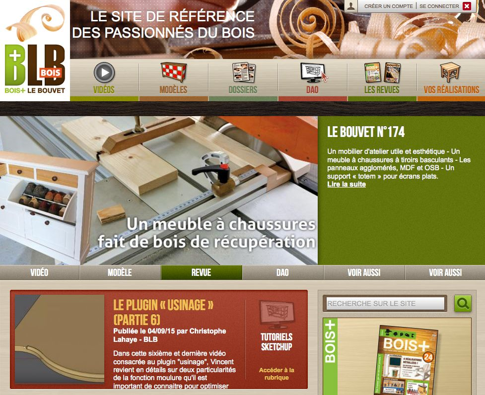 Acceuil site Web Le Bouvet
