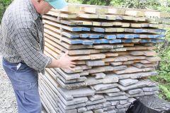 Entreposage du bois à l'extérieur