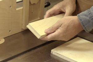 Fabrication des languettes avec une lame de banc de scie