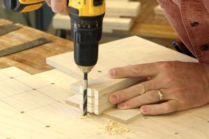 Making a hand drill guide