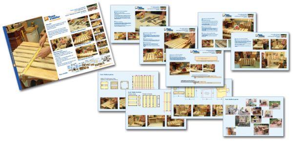 Plans détaillés - Mobilier de palettes